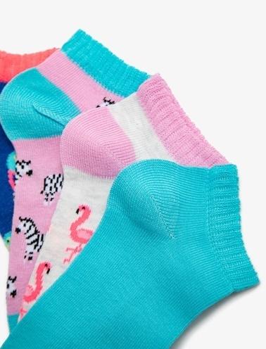 Koton Kids 4'lü Kiz Çocuk Çorap Pembe